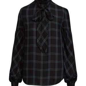 Lauren Ralph Lauren plaid necktie twill shirt